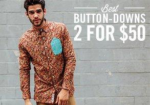 Shop Best Button-Downs: 2 for $50