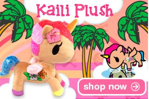 Snuggle up with the latest addition to the tokidoki plush gallery: Bocconcino! Perfect for any fans of the Moofia family, this super snuggly plush comes with a felt spade collar tag and I love MILK embroidered on his side.
