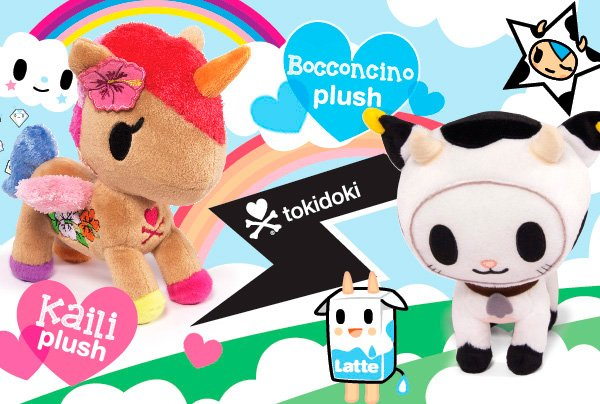 Snuggle up with our two newest members of the tokidoki plush family Bocconcino & Kaili! These super snuggly plush dolls stand at 8 tall and are sure to make criminally cute additions to your collection.