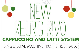 NEW KEURIG RIVO CAPPUCCINO AND LATTE SYSTEM SINGLE SERVE MACHINE FROTHS FRESH MILK Keurig® Rivo® R500 Brewer in Black 229.99 FREE SHIPPING SHOP KEURIG RIVO