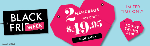 Shop 2 Handbags - ONLY $49.95!
