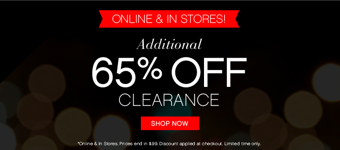 Additional 65% off Clearance!