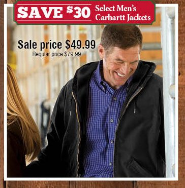Save $30 Select Men's Carhartt Jackets