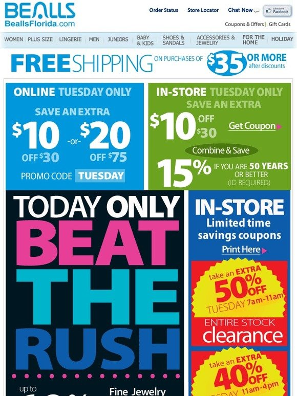 Bealls coupons in store florida