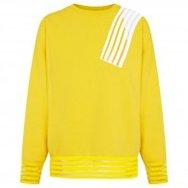 CHRISTOPHER KANE - Striped shoulder jersey sweatshirt