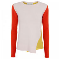 STELLA MCCARTNEY - Colour block cashmere jumper