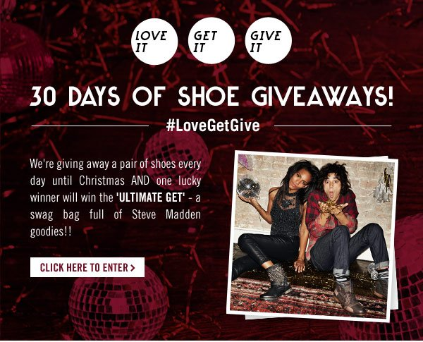 30 Days of Shoe Giveaways Start Now!
