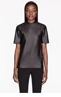 CEDRIC CHARLIER Black Glazed Wool t-shirt for women