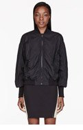 ACNE STUDIOS Black Ruched Halee Bomber Jacket for women