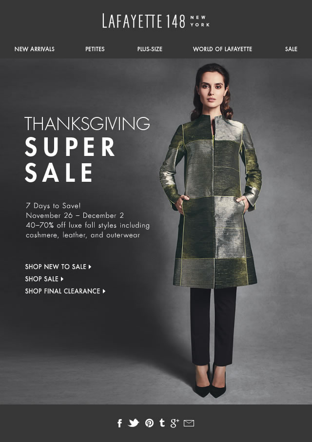 Thanksgiving Super Sale! Save 40-70%
