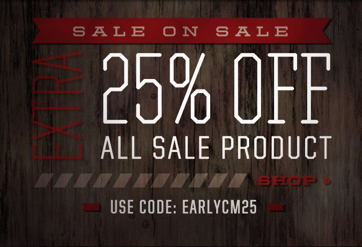 Sale on Sale - Extra 25% off