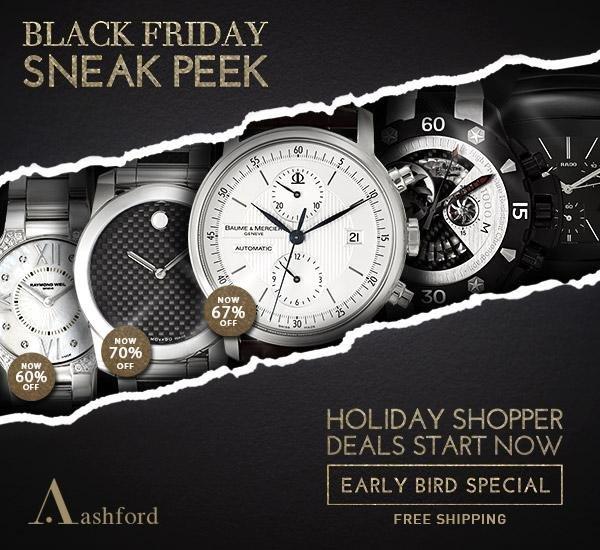 Sneak Peek of Black Friday Deals at Ashford.com!