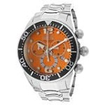 Invicta 14198 Men's Lupah Diver Orange Dial Steel Bracelet Chronograph Watch