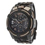 Invicta 12677 Men's Bolt Zeus Reserve Rose Gold Bezel Black IP Steel Black Rubber Strap Chronograph Dive Watch
