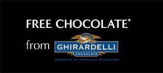 FREE CHOCOLATE* from GHIRARDELLI CHOCOLATE