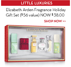 LITTLE LUXURIES. Elizabeth Arden Fragrance Holiday Gift Set ($56 value) NOW $38.00. SHOP NOW.