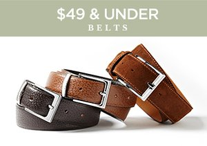 $49 & Under: Belts