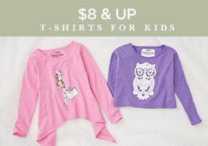 $8 & Up: T-Shirts for Kids