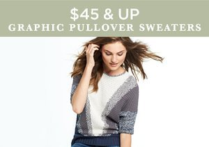 $45 & Up: Graphic Pullover Sweaters
