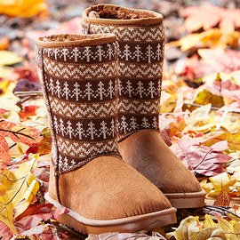 Fleecy Feet: Shearling-Style Boots