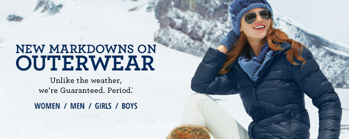 New Markdowns on Outerwear