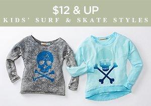 $12 & Up: Kids' Surf & Skate Styles