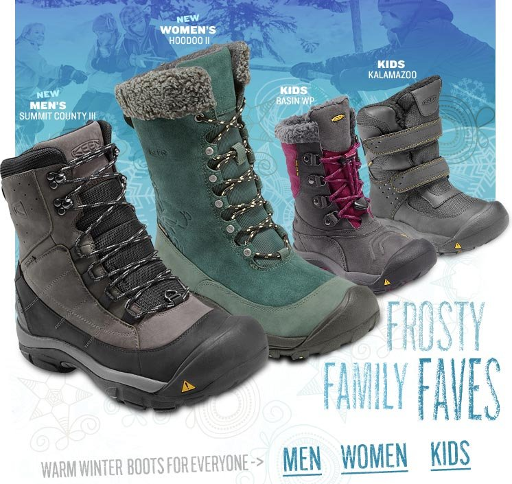 Warm Winter Boots for Everyone!
