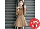 Frilled Layered-Hem A-Line Coatdress