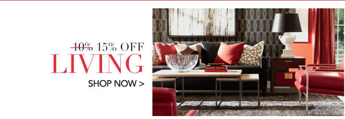 15% off living