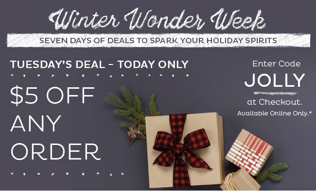$5 Off Any Order - Shop Now