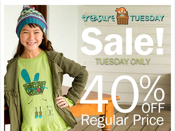 40%  Off Selected New Holiday Fashions! Treasure Tuesday + BOGO 50% Off Winter &  Holiday Dresses