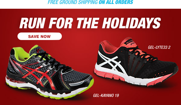 Run for the Holidays and Save Now - Hero