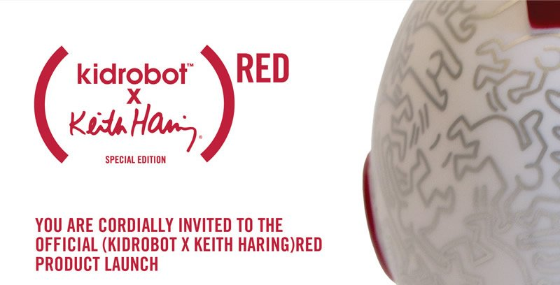 (Kidrobot x Keith Haring Special Edition)RED. You are cordially invited to the official (kidrobot x Keith Haring)RED product launch