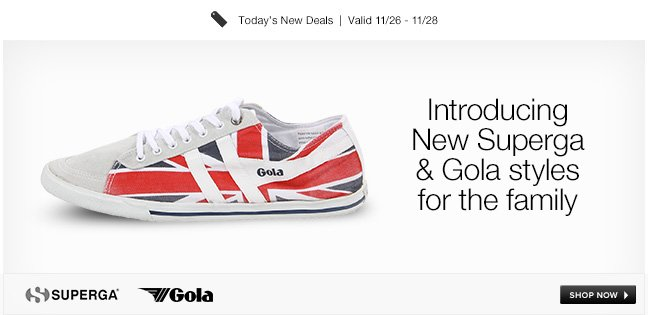 Introducing New Superga and Gola Styles for the Family