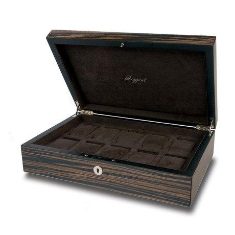 Macassar Wood 10 Watch Case // Macassar Ebony