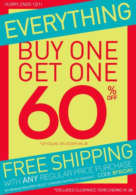 Black Friday Sneak Peek - Buy 1, Get 1 60% Off Starts TOMORROW, 11/27!