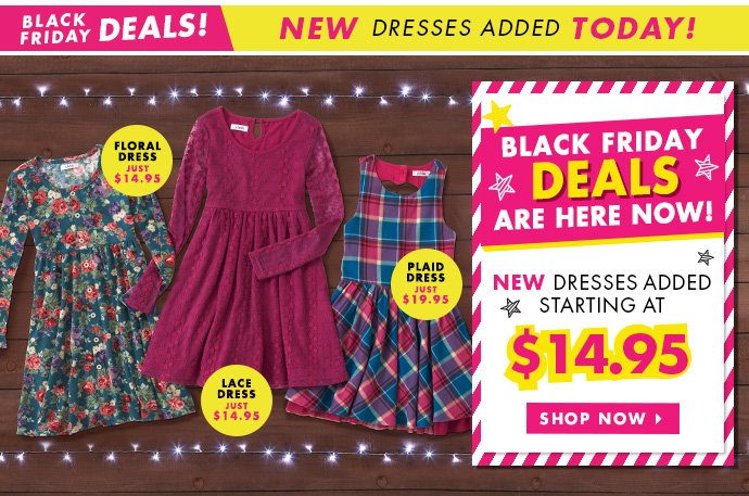 New Dresses Starting At $14.95 Added!