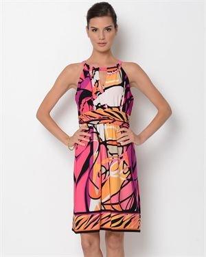 Shelby & Palmer Printed Sleeveless Dress