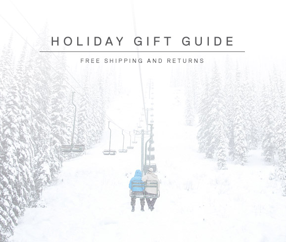 HOLIDAY GIFT GUIDE. FREE SHIPPING AND RETURNS.