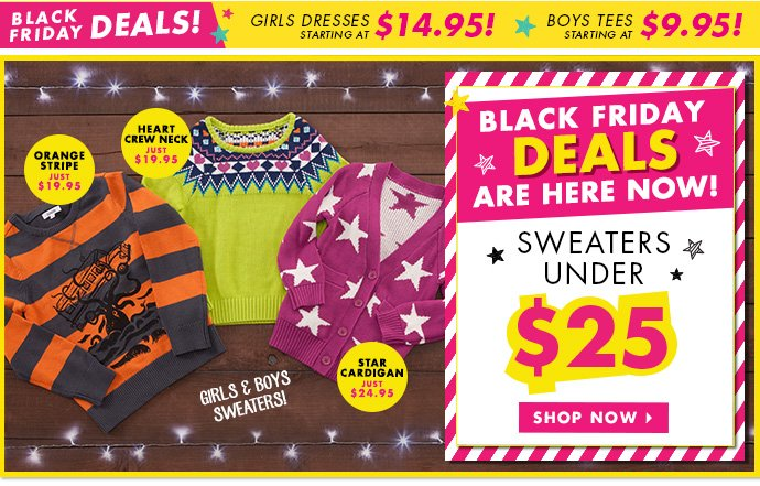 Sweaters Under $25 Today Only!