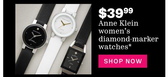 $39.99 Anne Klein women's diamond-marker watches*. Shop Now