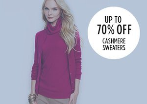 Up to 70% Off: Cashmere Sweaters