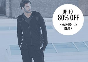 Up to 80% Off: Head-to-Toe Black
