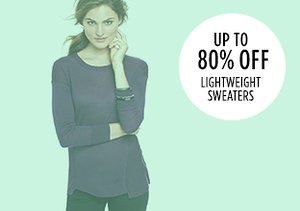 Up to 80% Off: Lightweight Sweaters