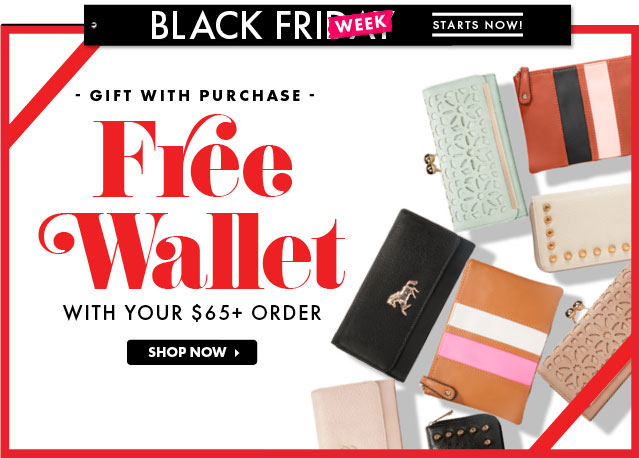 Free Wallet With Any $65!