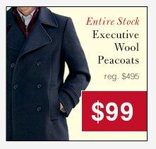 Executive Wool Peacoats - $99 USD