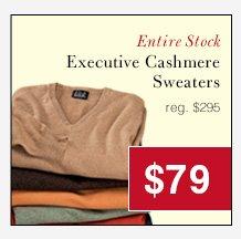 Executive Cashmere Sweaters - $79 USD