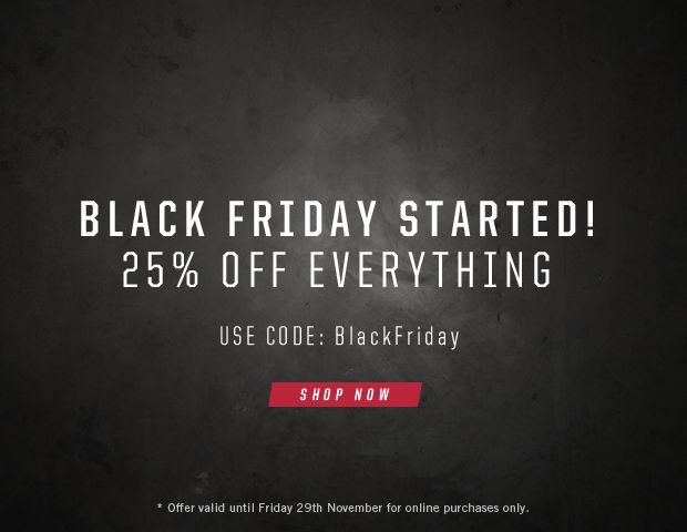 Black Friday : 25% Off Everything!