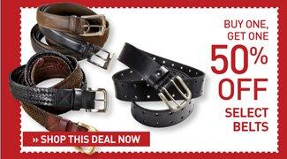 Shop BOGO 50% Off Belts