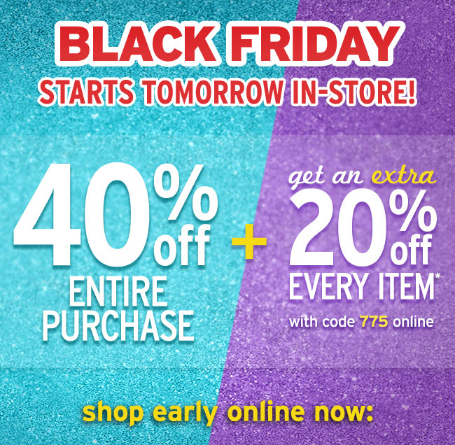 Black Friday Starts Tomorrow In-Stores